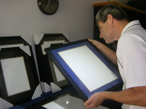 Your certificate frames are inspected by a Certificate Framing expert.
