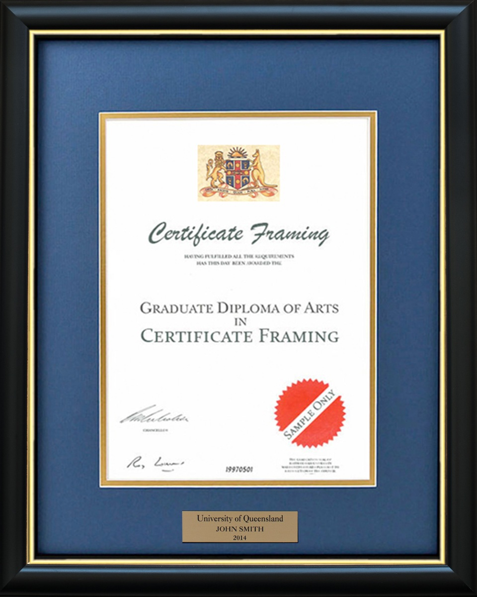 Certificate frames made for a3 size professional credentials certificate frame with a personalised plaque xflitez Gallery