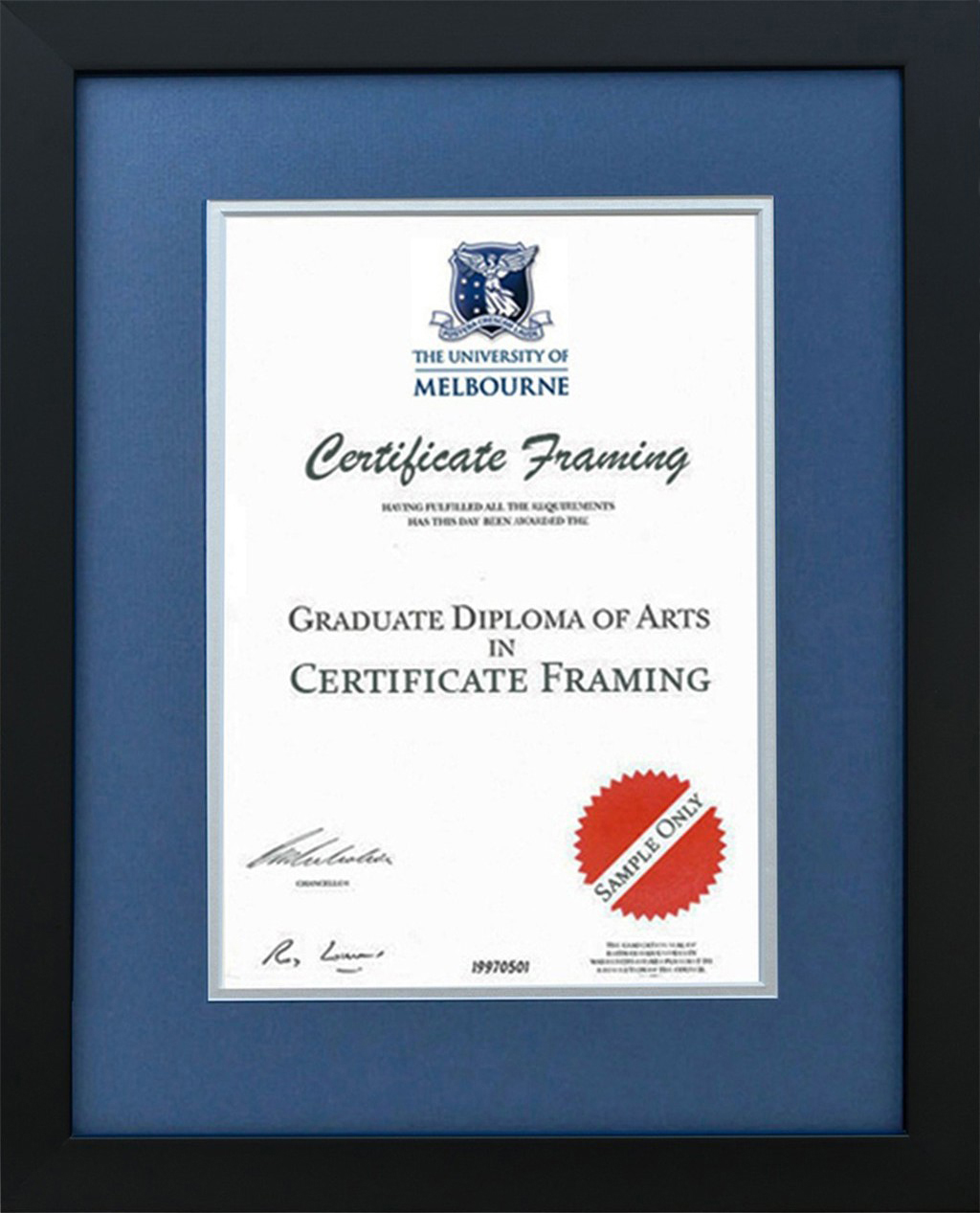 Certificate Frames for La Trobe University Degree. Graduation
