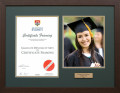 Modern Walnut Frame for your University Degree and Graduation Photo