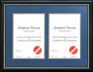 Dual Degree Certificate Frames for ANU - Australian National University