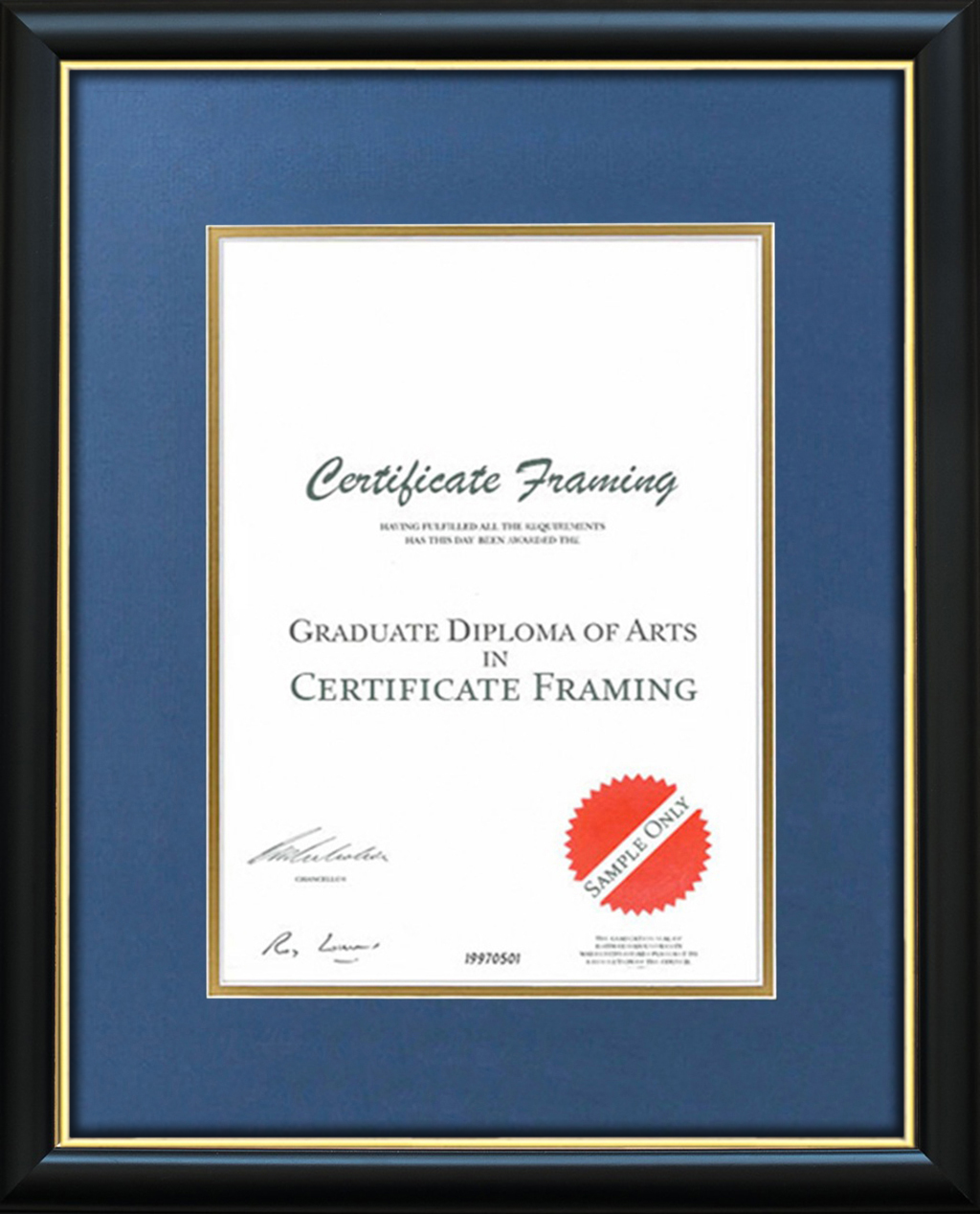 A4 Certificate Frames handmade for your A4 Documents.