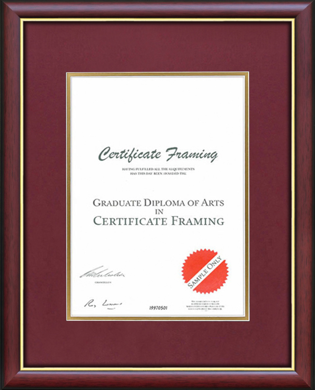 Certificate Frames made for A3 Size Professional Credentials.
