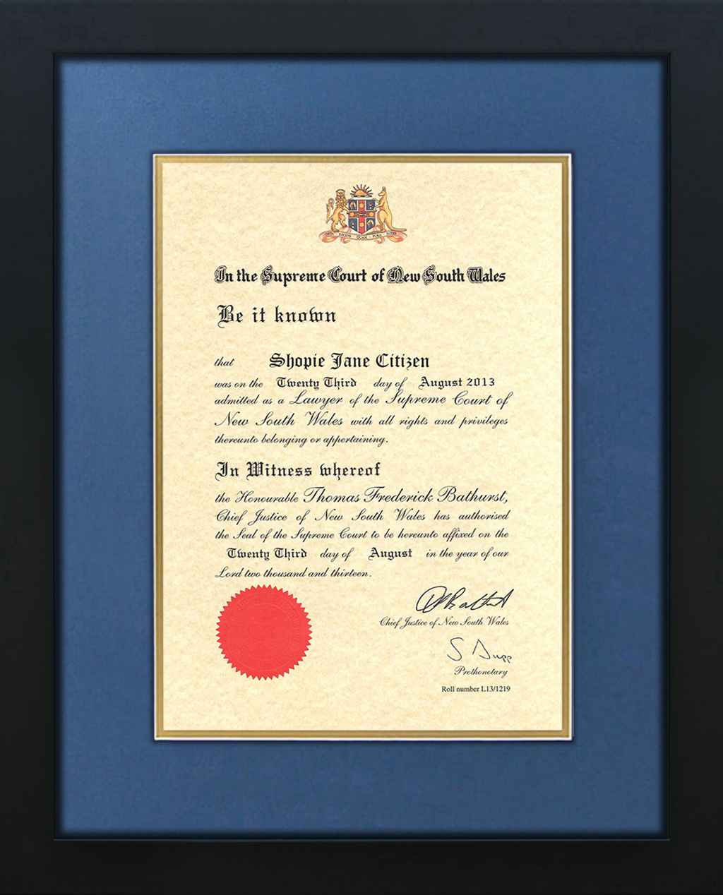 Supreme Court Admission Certificate Frame Supreme Court
