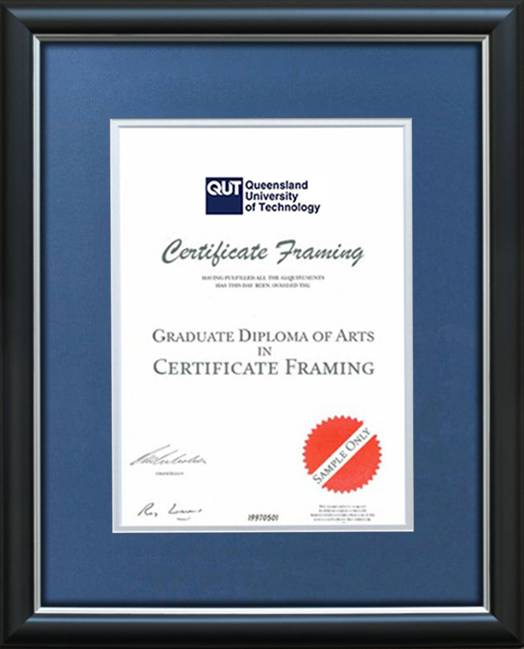 Certificate Frames for your QUT Degree. University Graduation