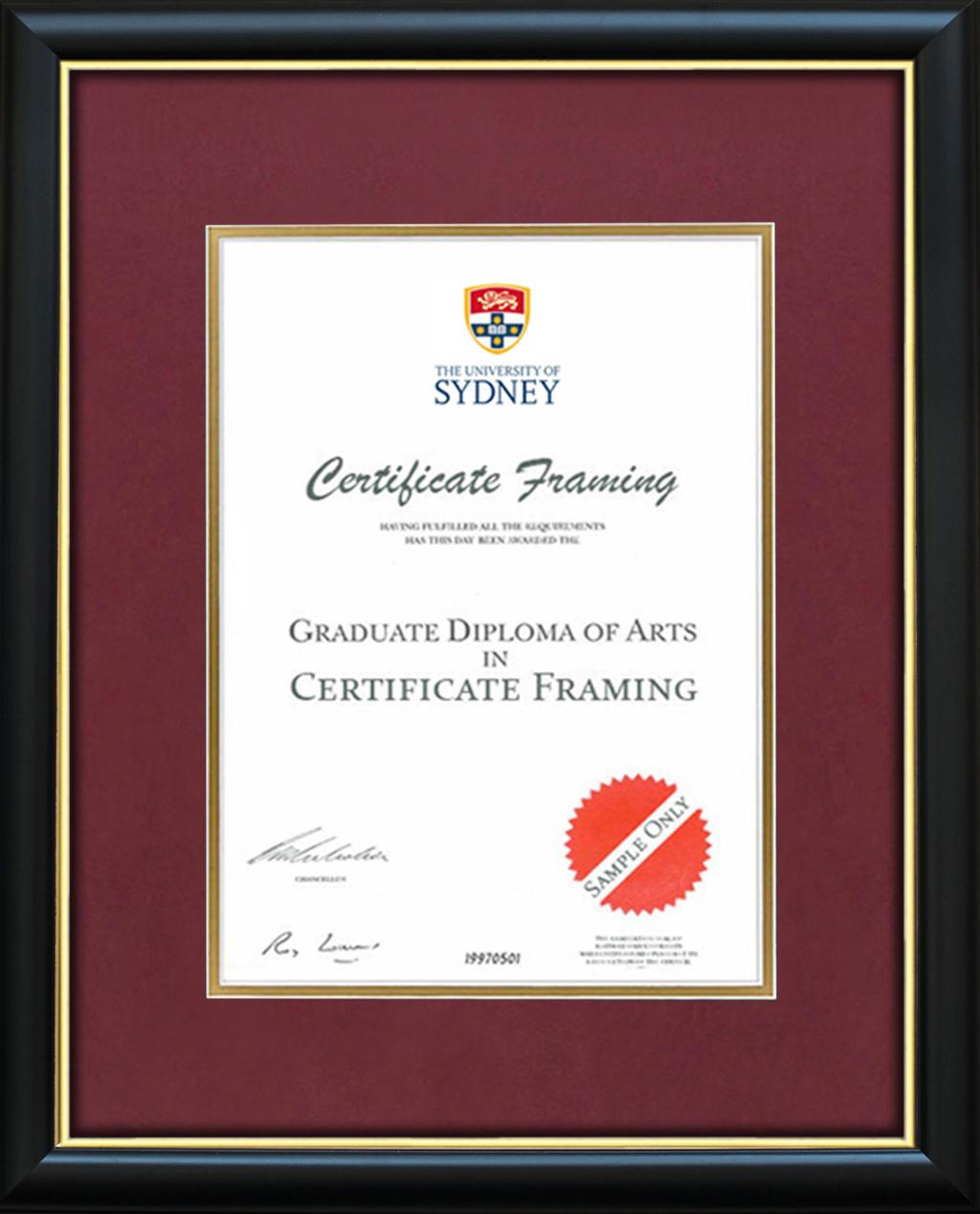 Certificate Frames for a University of Sydney Degree. Sydney