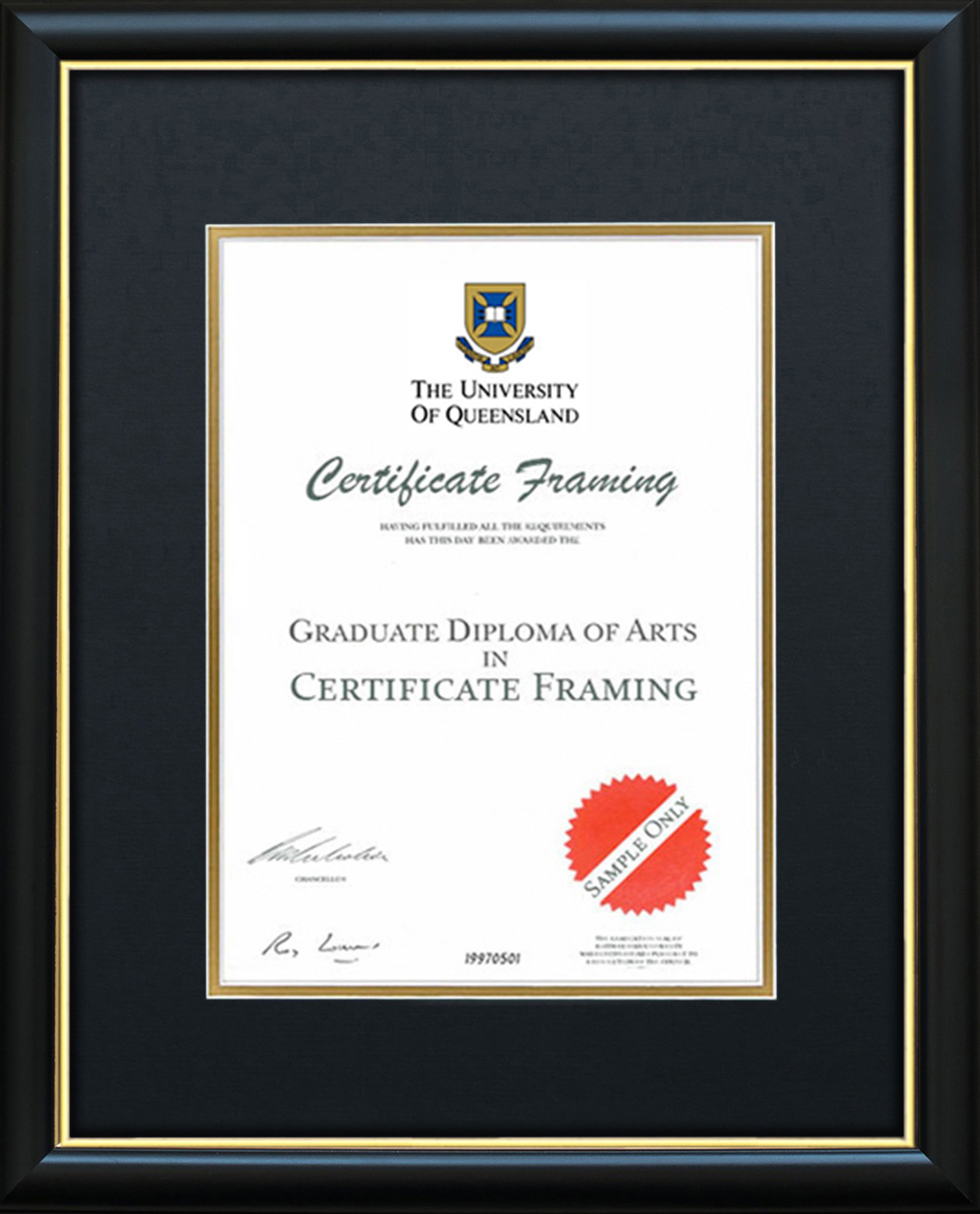 Certificate Frames For A University Of Queensland Degree Uq
