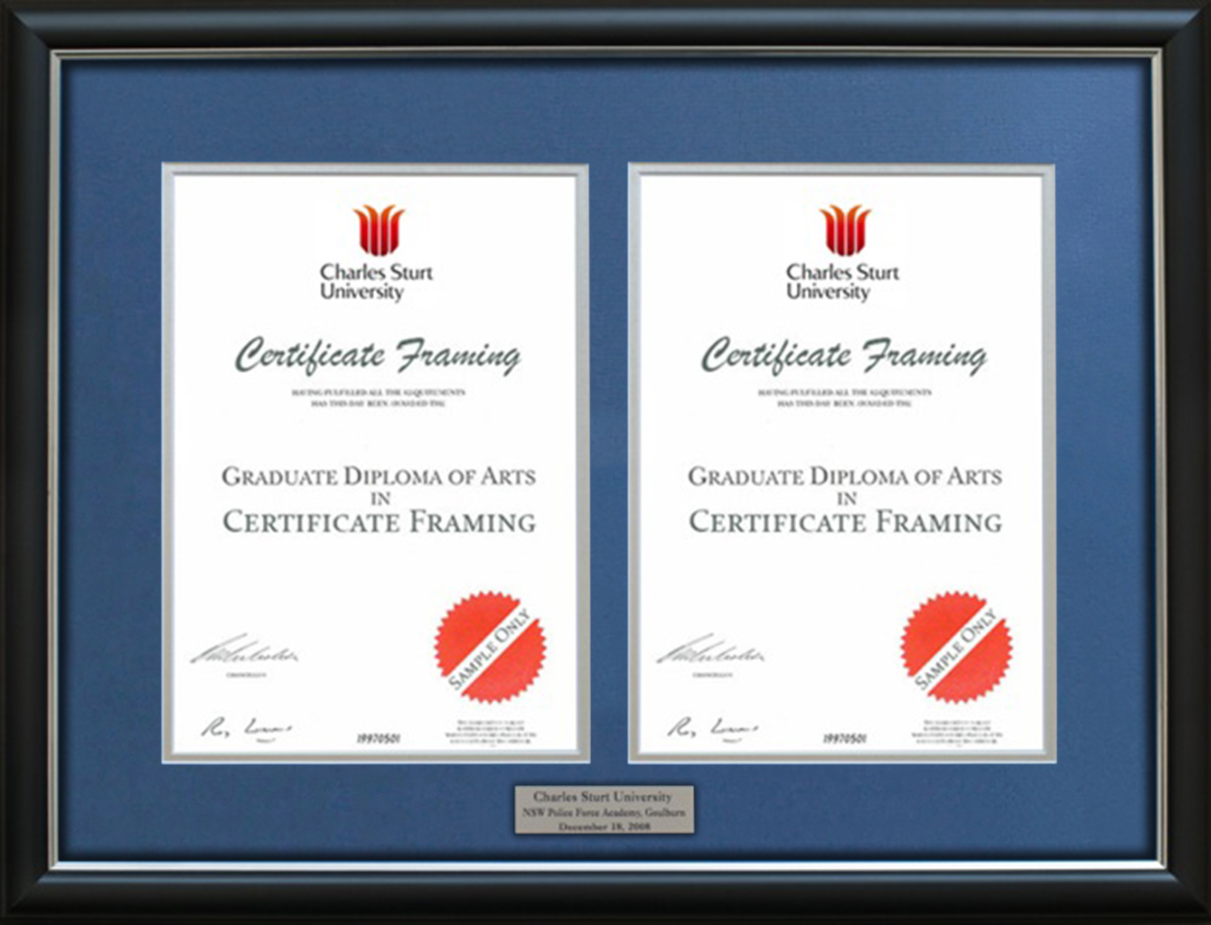 Certificate Frames for your Curtin University Degree.