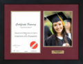 Certificate with Graduation Photo Frame